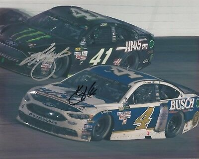 Kevin Harvick BUSCH BEER Kurt Busch MONSTER ENERGY FORD 8x10 signed NASCAR photo