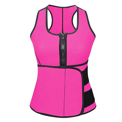 Women Sweat Vest Adjustable Sauna Waist Trainer Weight Loss Sports Vests Tops