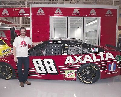 Dale Earnhardt Jr DARLINGTON THROWBACK DEI 2017 MENCS 8x10 #88 signed photo