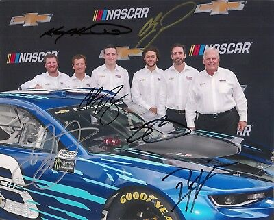 HMS 2018 CAMARO SS 6X signed pic DALE EARNHARDT JR CHASE ELLIOTT JIMMIE JOHNSON