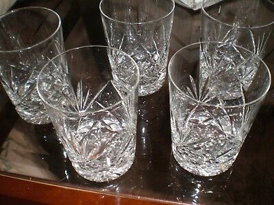 Cut Glass Whiskey Glasses (Small)  - Set Of 5