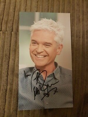 Genuine hand signed autograph Philip Schofield