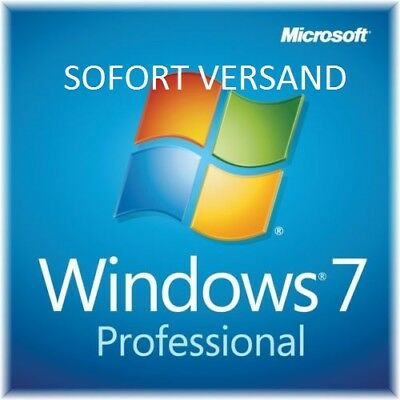 Windows 7 Professional (win 7 pro) 32/64 BITS OEM Product Key Aktivierung