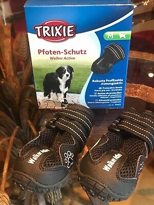 Trixie Walker Active Dog Boots- Paw Protective & Injury Care Shoes. Size- MEDIUM
