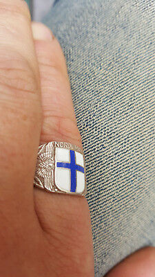 WW2 Finnish Finland Wiking Nordland Division Volunteers Silver Ring