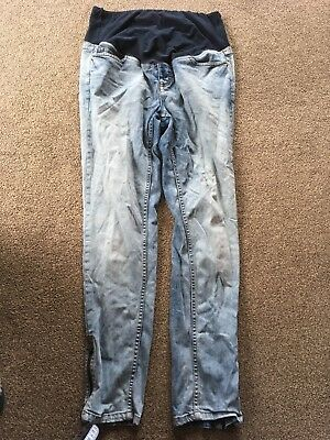 Maternity Jeans Bleach Washed H&M size 46 (16-18)