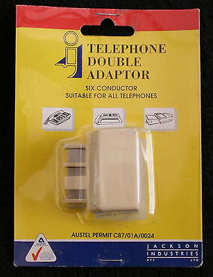 Telephone Double Adaptor - Six Conductor - 'suitable For All (Corded) Telephones