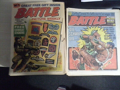 Vintage Battle Comics Issues 1 to 116