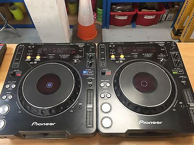 Pair of Pioneer CDJ 1000 mk3 CD DJ turntables.