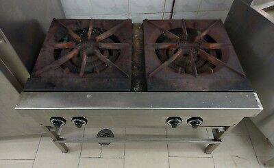 Commercial two burner gas cooktop