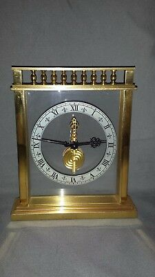 Rare  Jaeger-LeCoultre Trianon 513 Skeleton 8 Day Table Clock In Line  Movement