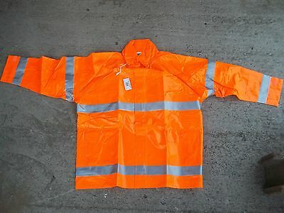 Tingley J53129 Rain Jacket, Hi-Vis Orange, XL Comfort Brite NIB