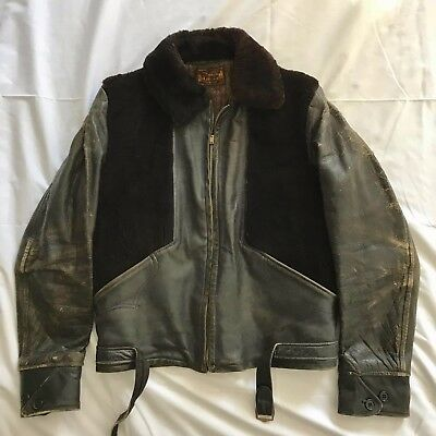 RARE Vintage 1930s Grizzly Horsehide Leather Jacket