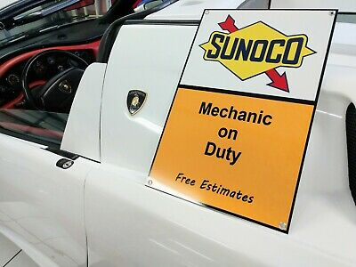 Sunoco gasoline gas oil petrolania ...Large sign