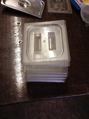 Cambro 1/6 Size Plastic Lids Clear Lot of 12