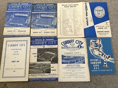 Collection of Cardiff City football items.