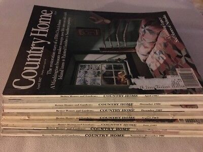 Country Home Vintage magazine lot Of 7 From 1984-1987, 3 Christmas Issues!!