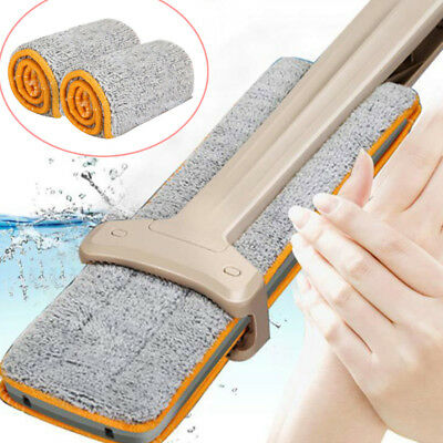 Double Sided Non Hand Washing Mop Accessories Dust Push Mop Cloth Clean Tools UK