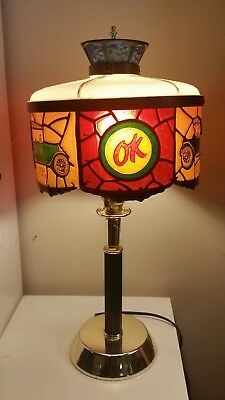 1970's Chevrolet OK Used Cars Tiffany Style Showroom Salesman's Desk Table Lamp