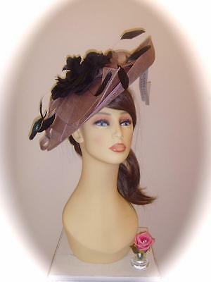 SALE Mother of Bride Ascot Occasion Wedding Condici 9179 Fascinator, Rosewood