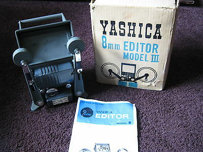 Yashica Model III 8mm Cine Film Editor