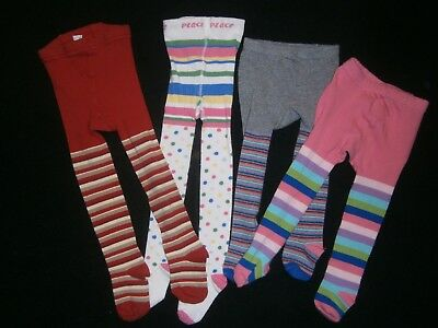 Girls 12-24 Months ** KNIT TIGHTS LOT ** 4-PR Footed Stockings CHILDREN'S PLACE+