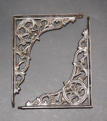 Pair of Cast Iron Victorian Cistern Brackets - Antique Style Old Heavy Duty
