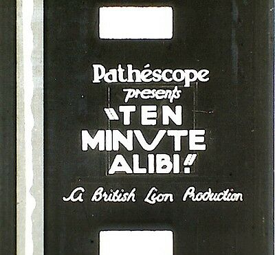 9.5mm FILM - TEN MINUTE ALIBI  -  1935  -  B/W  -  SOUND  -  2 X 900'