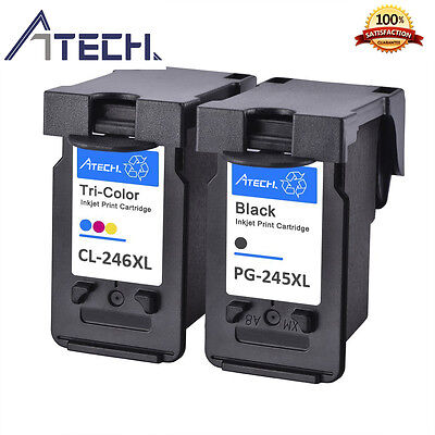 2 PACK PG245XL CL246XL Ink Cartridge for Canon PIXMA MG2420 MG2450 MG2520 MG2550