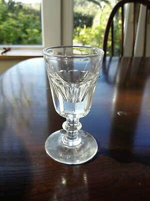 Victorian penny lick glass