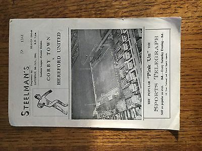 Corby town v Hereford united 1965/66
