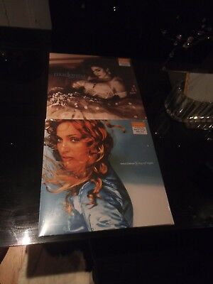 Madonna Ray Of Light Blue Vinyl & Like A Virgin Clear New Sealed Sainsbury's LP
