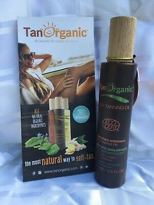 Tan Organic Certified Self Tanning Oil 100ml New Free P&P