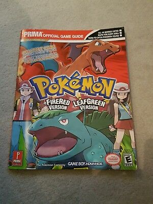 Pokemon Fire Red Leaf Green Version Official Strategy Guide Game Boy Advance GBA