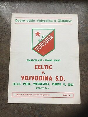 CELTIC  V  VOJVODINA S.D. European Cup 2nd Round  8th March 1967