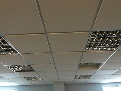 Suspended Ceiling Fluorescent Tube Lights Fittings 600mm x 600mm 2 for 99p