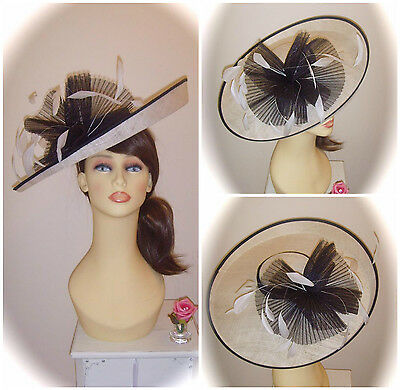 Mother of Bride Ascot Occasion Wedding Condici Hatinator, Ivory & Black