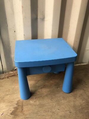 Little Childrens Blue Table With  Drawer