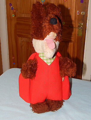 vintage 1970's basil brush soft toy with pull string working a wendy boston