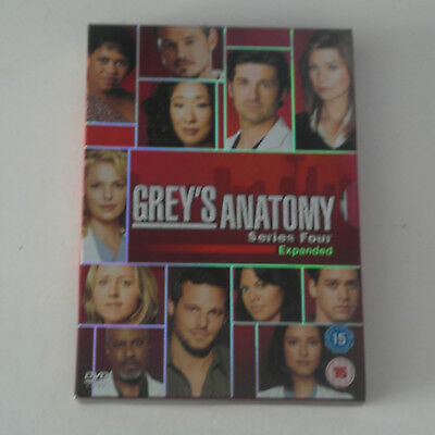 DVD Grey's Anatomy - Series 4 - Complete (DVD, 2009, 4-Disc Set, Box Set)