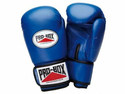 Pro Box Kids Boxing Gloves Sparring Training Base Spar Blue Boys Girls 4oz 6oz