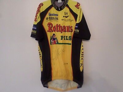 Vintage Rare Jan Ullrich Signed Cycling Jersey Rothaus Pils