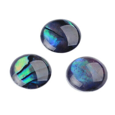 10pcs Dome Paua Abalone Shell Cabochons Half Round 8mm for Cameo Setting