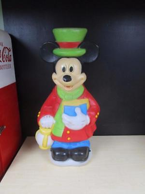 """Vintage 34"""" Christmas Carol Mickey Mouse Disney Large Blow Mold Collectible"""