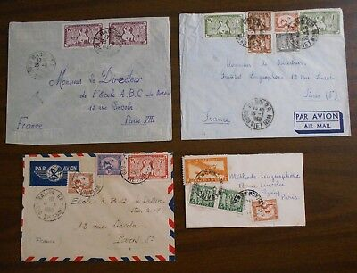 Vietnam 1949-53 four official correspondence to Paris special covers