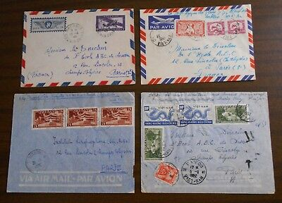 Vietnam 1950-55 official correspondence(Indochina) to France