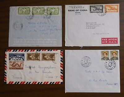 Vietnam 1950-55 four covers from Indochina to Paris