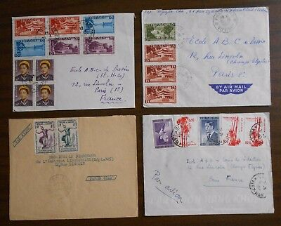 Vietnam 1950-55 four special covers from Indochina