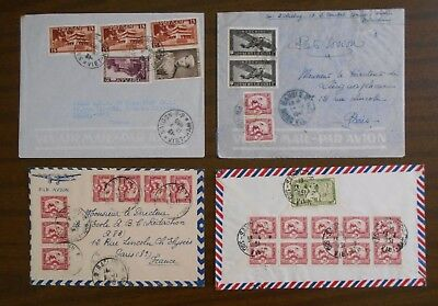 Vietnam 1950-55 four special covers to France, official correspondence