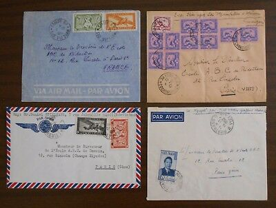 Vietnam 1950-55 four special official covers,correspondence to Paris